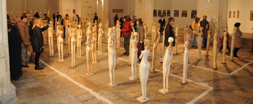 vernissage exposition zu de sculpture de paco gomez a la chapelle saint anne  pm