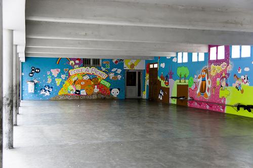 Arles info une fresque nouvelle l cole am d e pichot for Nouvelle peinture murale
