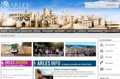 site internet www.ville-arles.fr