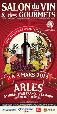Arles info salon du vin et des gourmets for Salon du vin nice