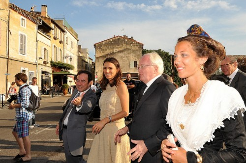 Restitutions des travaux de la couronne extérieure en présence d'Aurélie Filippetti, ministre de la Culture et de Michel Vauzelle, Président du Conseil régional Paca..