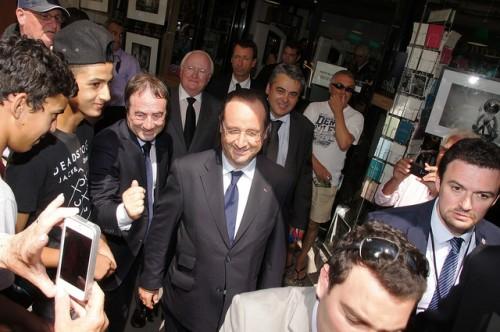 François Hollande à Arles