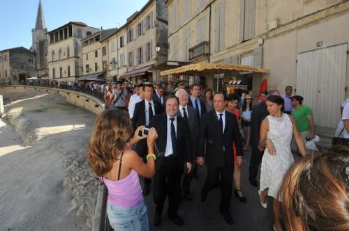 Hervé Schiavietti François Hollande à Arles