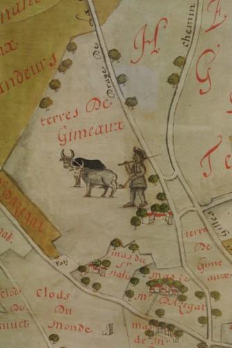 Archives communales Arles - détail de carte, 1691 - dépôt ASCO Corrège, Camargue Major