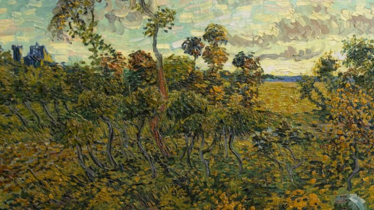 Sunset at Montmajour, 1888 - Vincent van Gogh (1853-1890) Private collection