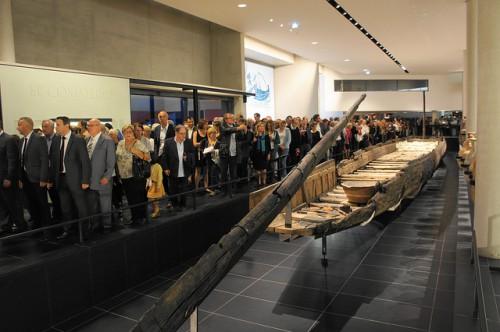 inauguration du chaland Romain au MDAA