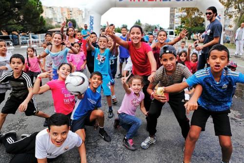 Les enfants n'ont pas boudé leur plaisir de courir pour la foulée barriolaise