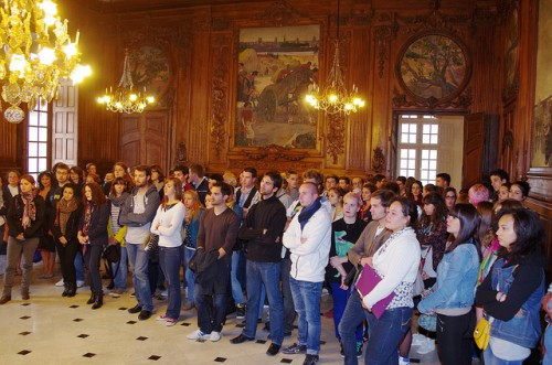 réception des étudiants de l'enseignement supérieur