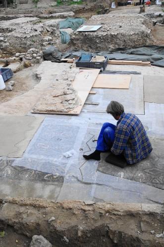 visite du site archéologique de la verrerie à Trinquetaille