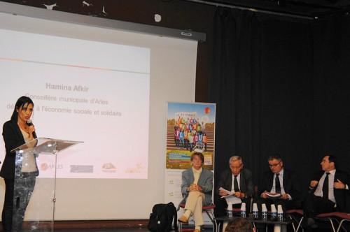 Hamina Afkir, conseillère municipale déléguée à l'économie sociale et solidaire.