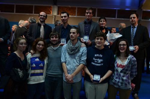 Les lauréats de la médaille de la Ville lors des voeux aux ArlésiensCérémonie des voeux du maire