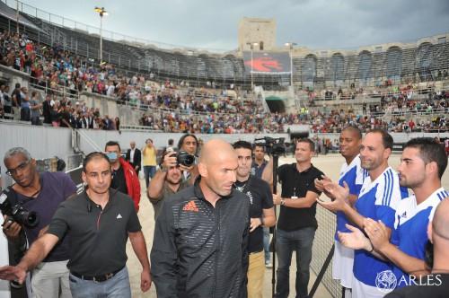 Zinedine Zidane aux arènes