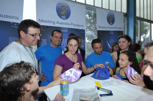 Anna Santamans à l'occasion du meeting Anna Santamans organisé par l'Union des Nageurs Arlésiens à la piscine Berthier