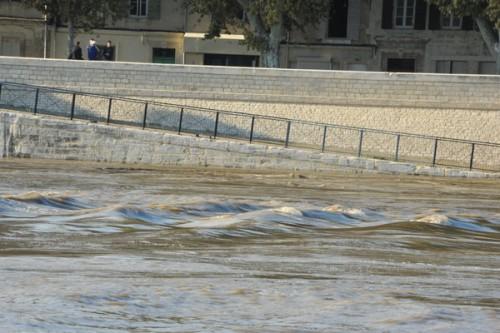Rhône en crue - Photo Patrick Mercier