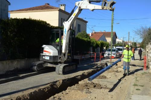 L'ACCM refait entièrement les réseaux d'alimentation en eau potable et d'assainissement. photo D. Bounias, ville d'Arles.