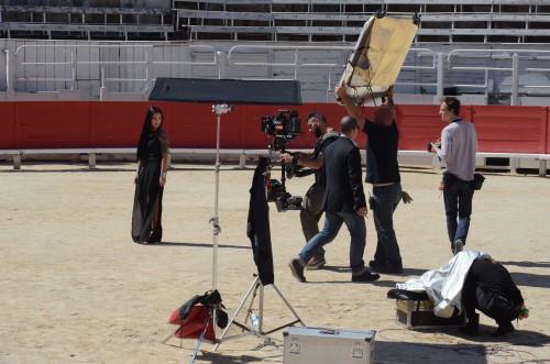 tournage clip aux arenes db