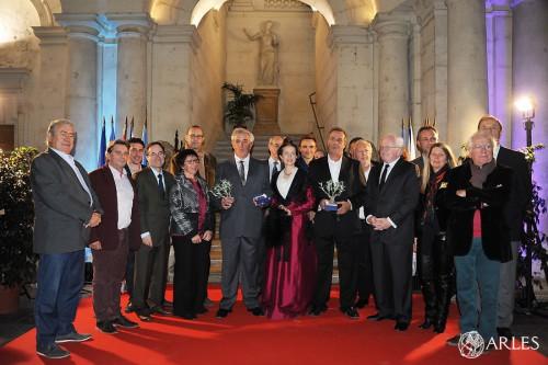 Cérémonie en l'honneur de Luc et Marc Jalabert