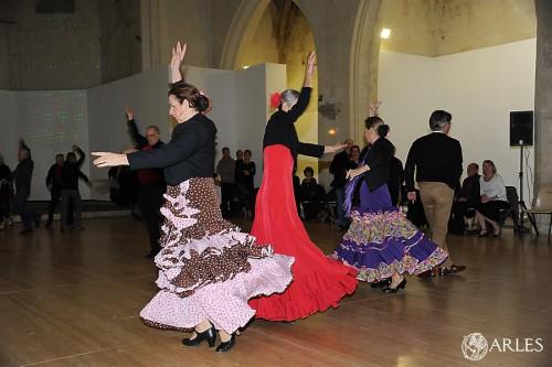 Tango et Sevillane pour le Telethon pm *** Local Caption *** Tango et Sevillane pour le Telethon