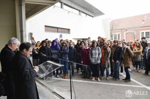 hommage victimes Charlie Hebdo Mopa