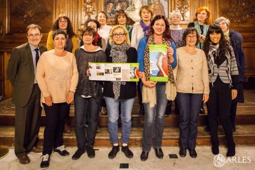 Présentation du programme du festival Femmes en mouvement, avec Sylvette Carlevan, conseillère municipale chargée du droit des femmes et les représentants des structures partenaires.