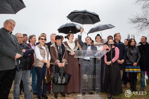 Espace toros à Gimeaux. Inauguration et presentation des taureaux pour la Feria de Pâques 2016.