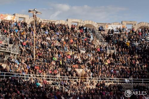 Corrida El Juli et Roca Rey aux arènes d'Arles lors de la feria de Pâques 2016.
