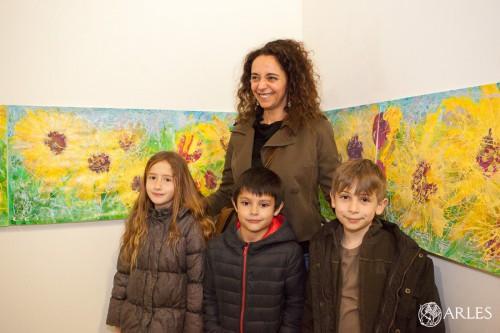 """Vernissage de l'exposition """"la période délicieuse - à Vincent Van Gogh"""" d'Aïcha Bendafi, chapelle Sainte Anne."""