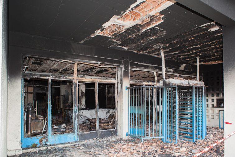 Incendie de la piscine Marius Cabassud