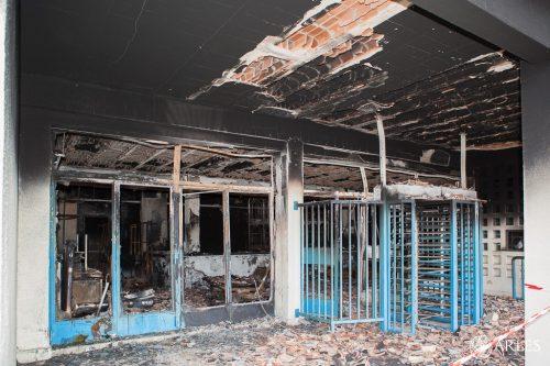 piscine cabassud incendiée