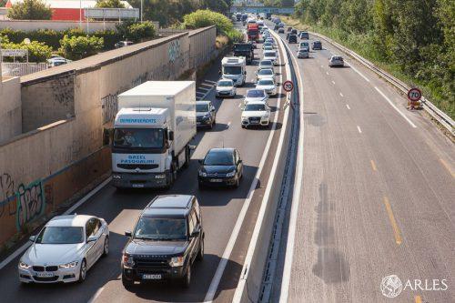 Opération de blocage de la voie rapide pour réclamer la construction du contournement autoroutier