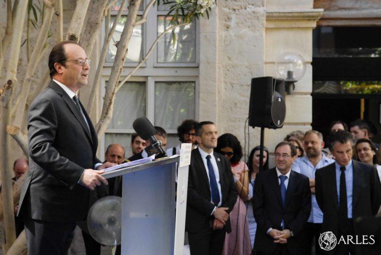 François Hollande à l'ENSP