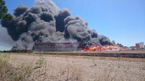 Incendie à Delta Recyclage
