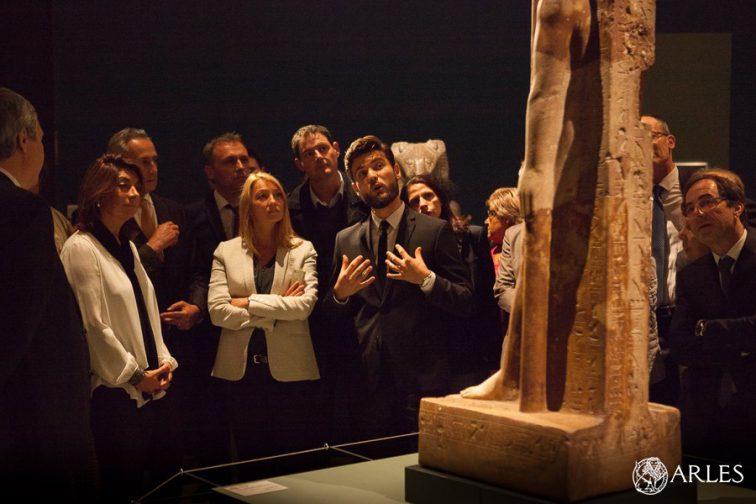 Vernissage de l'exposition Khaemouaset au musée départemental Arles antique, en présence de Martine Vassal