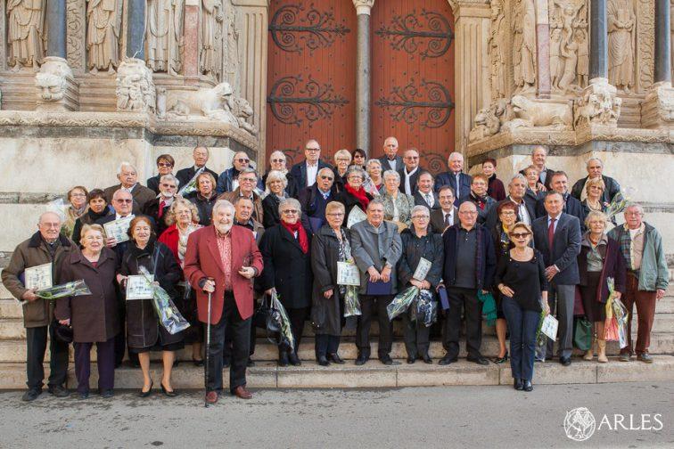 Cérémonie des noces d'or et de diamant 2016 à la mairie d'Arles et à la salle des fêtes de la maison des associations.