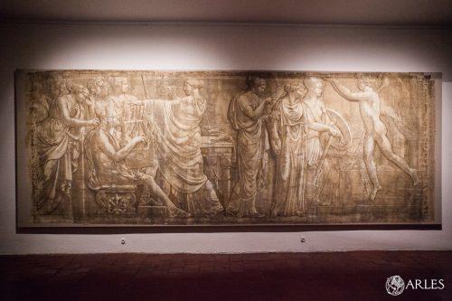 Présentation de l'une des 6 grisailles de Jacques Réattu présentée au musée Réattu.