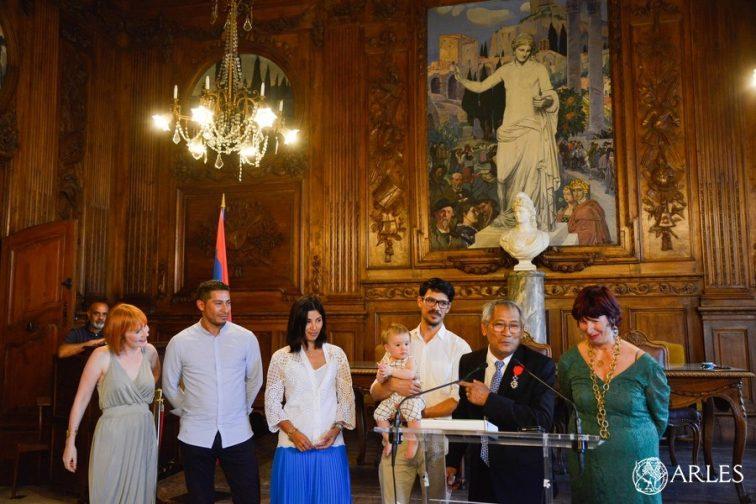remise médaille de la ville à Alphonse Pluquailec
